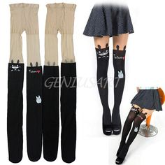 Sexy Women Pantyhose Totoro Pattern Tattoo Print Stocking Tights Leggings New #Unbranded #Pantyhose