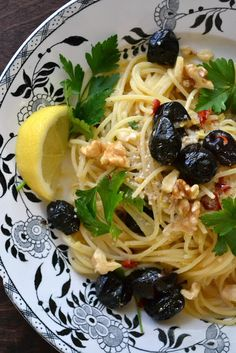 Am off to Sicily soon; hope to find dishes (both food and plate!) like this: Sicilian Lemon and Pepper Pasta