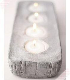 moderne Kerzenhalter selber machen