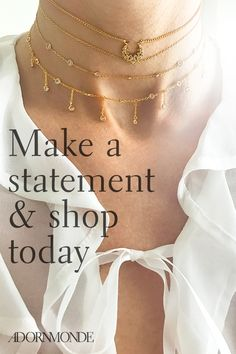 Looking for this year�s must-have choker trend? Shop Adornmonde�s selection of chokers that will complete any outfit. Discover chokers in a variety of colors, metals and materials for a look that�s anything but basic. Shop Adornmonde�s beautiful chokers today.