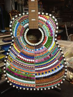 Kaleidoscope Guitar by Elsieland Mosaics, via Flickr