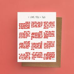 Lovely Card // I love you x 365 Available in EN & by Darveelicious