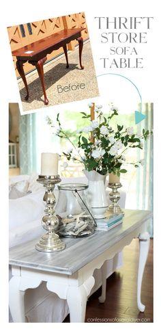 White Wood Furniture, Diy Furniture Table, Trendy Furniture, Distressed Furniture, Refurbished Furniture, Upcycled Furniture, Table Furniture, Furniture Design, Furniture Ideas