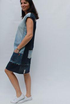 meggipeg: The refashioners 2016 - Mondrian Dress from jeans