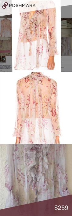 Zimmerman silk top Never has worn . Like new Zimmermann Tops Blouses