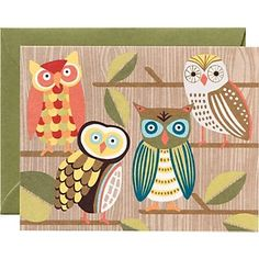 Owl note cards. Are. You. Kid. Ding. Me? : )
