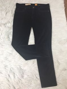 53f94655bc297 Pilcro and the Letterpress womens Sz 30 blue stretch pants Fit Series  velveteen | eBay Stretch