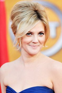 Drew Barrymore's pumped up French twist. See it and 23 other wedding-ready hairstyles.