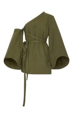 ROSIE ASSOULIN Detachable Sleeve Wrap Top. #rosieassoulin #cloth #top