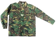 Kids Army Camouflage Padded Jacket - Ages 3 - 13 Years (Age 13). Kids Army Woodland Camo Jacket, Eppaulette Slide, 2 Hip Pockets, Polycotton Outer, Cotton Lining.