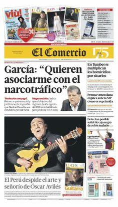 """¡Buen #domingo! Hoy en #NuestraPortada: @ALANGARCIAPERU: """"Quieren asociarme con el narcotráfico"""""""