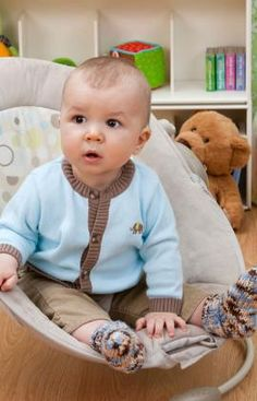 Strickmuster für Farbenfrohe Baby Söckchen