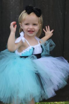 ALICE IN WONDERLAND Tutu Dress  Flower Girl by CarouselKiddies, $48.00