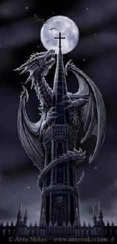 Dragon on a castle
