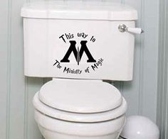 Ministry Of Magic Toilet Decal - https://tiwib.co/ministry-magic-toilet-decal/ #Bathroom #gifts #giftideas #2017giftideas #xmas
