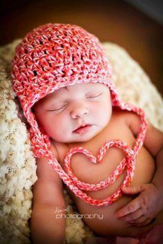 Niedliches Babyfoto tolle idee zum Vatertag, Muttertag oder Valentinstag