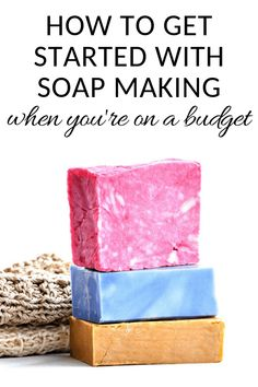 How to start making soap when you're on a tight budget How to Start Soapmaking on a Tight Budget - Salt in my Coffee Soap Making Kits, Soap Making Supplies, Homemade Soap Bars, Party Favors, Laundry Detergent Recipe, Handmade Soap Recipes, Jelly Soap, Soap Tutorial, Home Made Soap