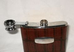 Vintage stainless steel English hip flask by lizzylovesvintage, $15.00