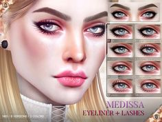 Sims 4 CC's - The Best: Medissa Eyeliner N63 by Pralinesims