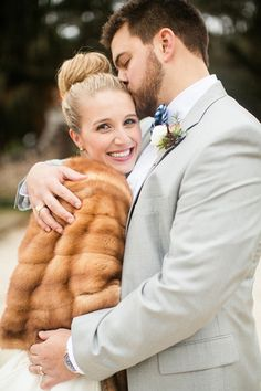 fur stole + high bun | Courtney Dox #wedding