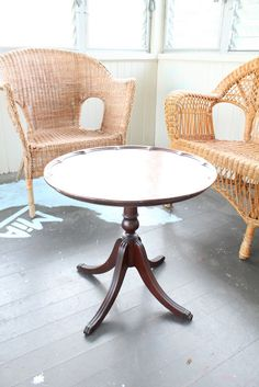 You CAN find furniture on Craigslist! Mahogany Table, Porch Furniture, Table, Furnishings, Furniture, Find Furniture, Wicker Sofa, Home Decor, Dining Table