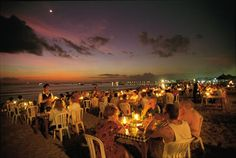 Jimbaran Beach. Best seafood with the best view. #Bali #Indonesia