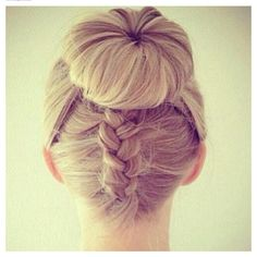 Sock bun/ braid