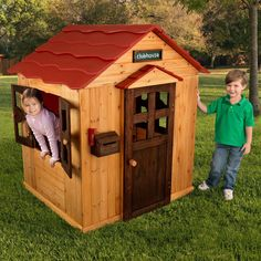 Or maybe this one...KidKraft Red Roof Outdoor Playhouse