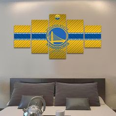 2017 Golden State Warriors - 5 Piece Canvas Painting