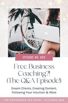 In this Q&A podcast episode, I go through all the questions you might have about being a coach, getting dream clients, creating content and following your intuition. Tune in to the Empowered CEO Show to get the full scoop! #freebusinesscoaching #onlinecoachqanda Business Marketing, Marketing And Advertising, Online Business, Advertising Strategies, Marketing Strategies, Growing Your Business, Intuition, Coaching, Content