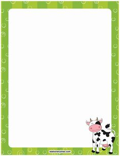 Printable cow stationery and writing paper. Free PDF downloads at http://stationerytree.com/download/cow-stationery/.