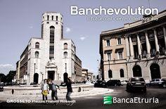 #Grosseto, Piazza Fratelli Rosselli: Banchevolution - Il futuro al centro dell'azione (2014).