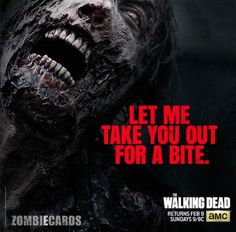 'The Walking Dead' Valentine's Day card app takes a bite out of love  http://blog.zap2it.com/pop2it/2014/01/the-walking-dead-valentines-day-card-app-takes-a-bite-out-of-love.html | The Walking Dead AMC