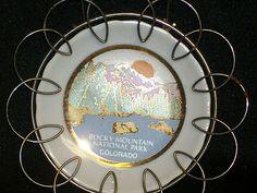 Vintage Rocky Mountain National Park Colorado Collector Porcelain Souvenir Plate  $0.99