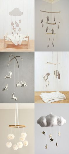 Zauberhafte Mobile-Ideen. #idee #diy ämobile #kinderzimmer #baby #einrichten #inspiration >>LOVE these!! Neutral Nursery Mobiles — Lily and Spice Interiors