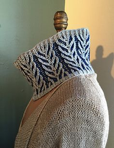 This cowl is a great first project for two color Brioche knitting.