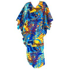 Incredible Vintage Judith Ann for Neiman Marcus Beaded Cotton Caftan Dress | From a collection of rare vintage kaftans at https://www.1stdibs.com/fashion/clothing/day-dresses/kaftans/