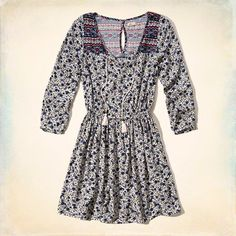 Tassel Peasant Dress