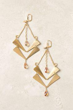 Golden Guillemet Earrings