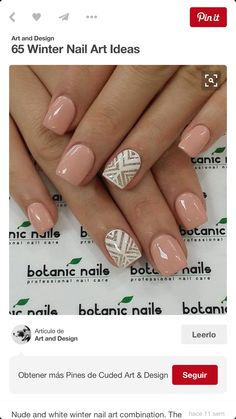 A manicure is a cosmetic elegance therapy for the finger nails and hands. A manicure could deal with just the hands, just the nails, or Love Nails, How To Do Nails, Fun Nails, Pretty Nails, New Year's Nails, Gorgeous Nails, Trendy Nail Art, Cute Nail Art, Winter Nail Art