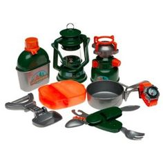 Camping equipment for dramatic play