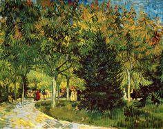 Vincent Van Gogh - Post Impressionism - Arles - Une promenade au jardin public de la place Lamartine.