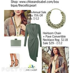 Today's Featured Product: Heirloom Chain + Pavé Convertible Necklace Reg. $118, Sale Only $29 Through 7/12  #Summer #love #daily #Featured #product  #Necklace #Chains #Antique #Brass #Convertible #MultipleLooks #crystal #heirloom #jewelry #fashion #accessories #style #shopping #shop #trendy #trending #trend #trends #boutique #chloeandisabel #thecelticpearl #lifetimeguarantee #online #buy