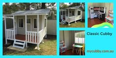 A look inside & outside this gorgeous Classic Cubby  #MyCubby #Cubby #Cubby #OutsidePlay #PlayOutside #BackyardPlay #HealthyKids #Australia #AusWideDelivery