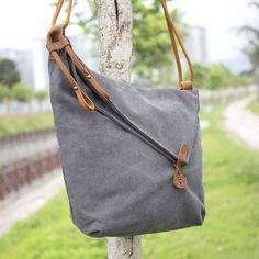 cce86cbd9b9d Women Canvas And Leather Crossbody Bag