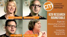 Content Marketing Institute B2B Roundtable part IV