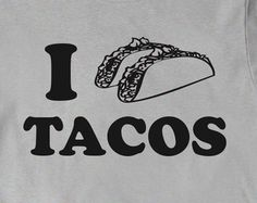 Taco Shirt Funny Tacos T-shirt Tee Mens Women Ladies Funny Gift Present Mexican Food Foodie I love Heart Tacos Gift for Girlfriend Boyfriend