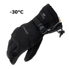 Men's Winter Warm Windproof Waterproof Gloves for Outdoor Sports Climbing Skiing Snowboard Motorcycle Riding Cycling Black L  #sports #skate #accessories