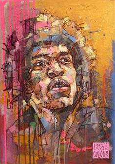 """Jimi Hendrix portrait 