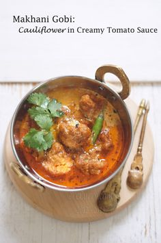 Makhani Gobi: Cauliflower in Creamy Tomato Sauce - Low Carb - (turmeric recipe) - metabolism booster